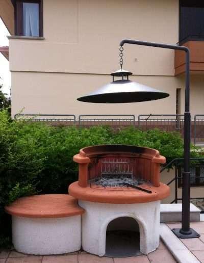 copertura in ferro per barbecue