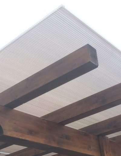 particolare copertura in legno lamellare