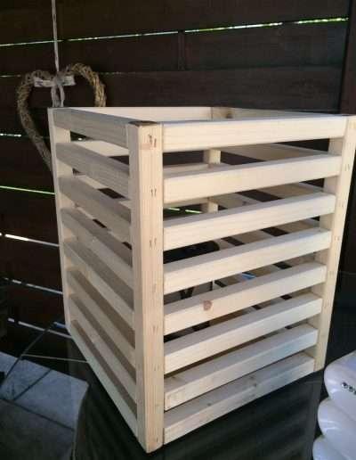 portavaso in legno